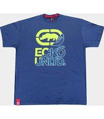 camiseta ecko urban plus size masculina - masculino