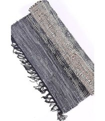 dywan skórzany szaro-beżowy