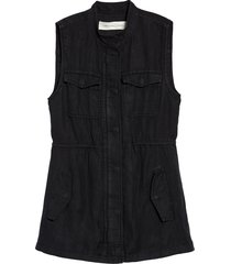 women's treasure & bond linen blend utility vest