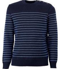 saint james binic navy blue sweater