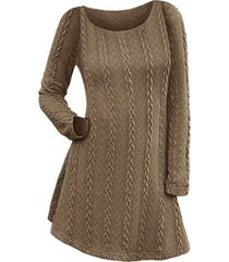 cable knit long sleeve mini jumper dress