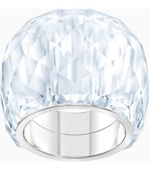 anello swarovski nirvana, tono argentato, acciaio inossidabile