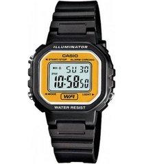 reloj casio la-20wh-9a negro silicona