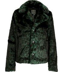 short coat printed fur 98509-11