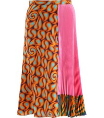 marni multicolor pleated skirt