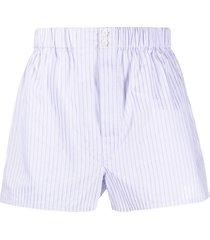 brioni striped print shorts - purple