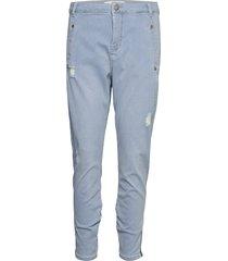 jolie 455 zip boyfriend jeans blå fiveunits