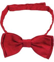 gravata borboleta lazy vermelha