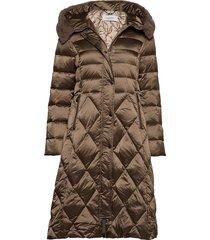 coat not wool gevoerde lange jas bruin gerry weber edition