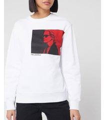 karl lagerfeld women's legend sweatshirt - white - l