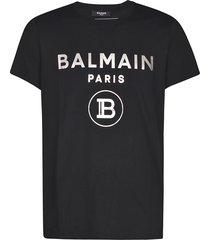 balmain small round b logo print t-shirt
