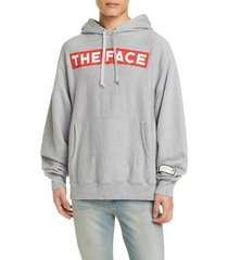 men's gucci the face cotton hoodie