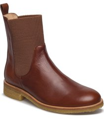 7317 shoes boots chelsea boots ankle boot - flat brun angulus