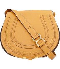 chloé marcie shoulder bag in leather color leather