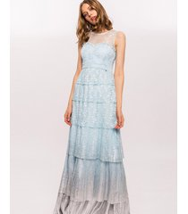 sukienka maxi gradientowa