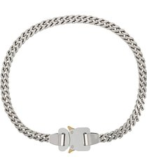 1017 alyx 9sm curb-chain buckle necklace - silver