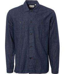 oliver spencer eltham shirt - indigo rinse osms147