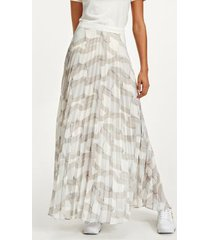 tommy hilfiger women's icon recycled pleated chiffon maxi skirt motion flag small / white - 0