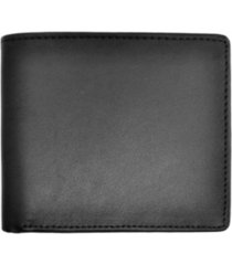 men's royce new york bifold wallet with zippered coin slot