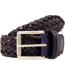 anderson's belts  woven leather belt| purple | af2984