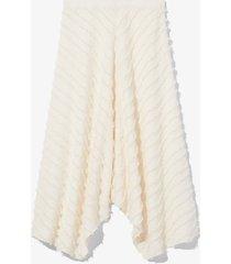 proenza schouler white label fringe fil coupé skirt 00103 cream/white 4