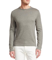 long-sleeve wool-blend sweatshirt