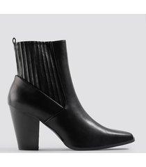 na-kd shoes cowboy boots - black