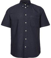 michael oxford shirt ss overhemd met korte mouwen blauw wood wood