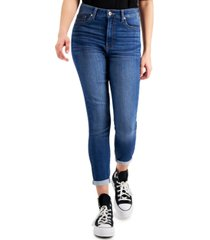 celebrity pink juniors' curvy high rise skinny cropped jeans
