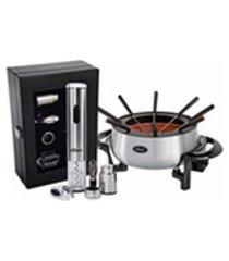 kit vinho e panela eletrica de fondue oster romance - 127v