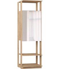estante armário c/espelho carvalho mel be mobiliário