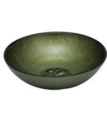 saladeira dunya de vidro verde 18cm firenze verde
