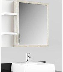 conjunto banheiro suspenso tampo vidro calcare preto lilies - tricae