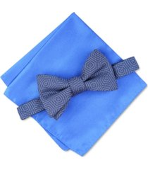 alfani men's debrin abstract pre-tied bow tie, created for macy's