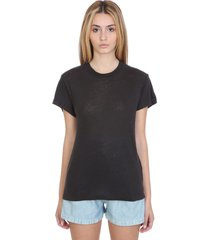iro hinton t-shirt in black linen