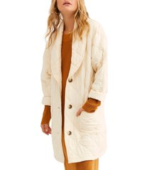 women's free people happy day dreamer quilted jacket, size x-large - ivory