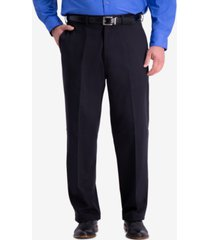 haggar men's big & tall w2w pro relaxed-fit performance stretch non-iron flat-front casual pants