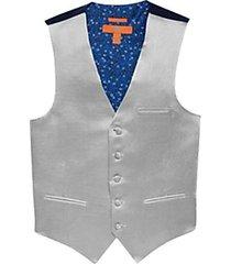egara orange blue metallic formal vest
