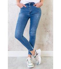 skinny broek dames lichtblauw