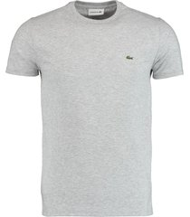 lacoste t-shirt grijs regular fit th6709/cca