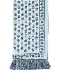 alexander mcqueen extra large skull scarf