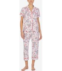 cuddl duds printed capri pajama set