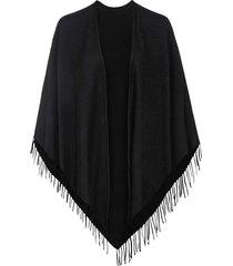 poncho in lana (nero) - bpc bonprix collection
