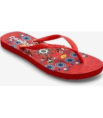shoes flip flop butterfl shoes summer shoes flip flops röd desigual shoes
