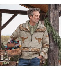 sundance catalog men's home on the range sweater in limestone medium