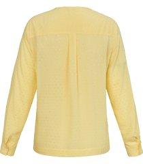 blouse met lange mouwen en structuureffect van anna aura geel