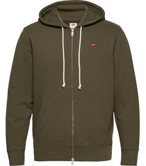 new original zip up olive nigh hoodie trui groen levi´s men