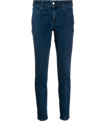 stella mccartney all is love star-embossed skinny jeans - blue