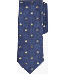 corbata medallion and fleece azul brooks brothers