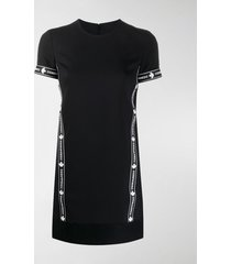 dsquared2 logo sports virgin wool blend t-shirt dress